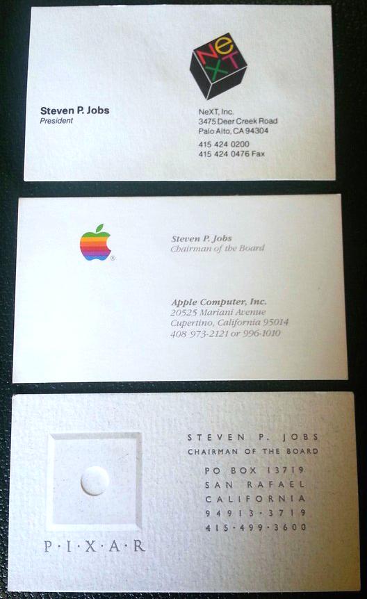 Steve jobs39 old business cards sell for 10500 for Steve jobs business card