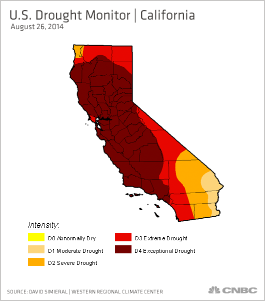 California Drought So Bad Put Camel On State Flag Group - Us droup map california change
