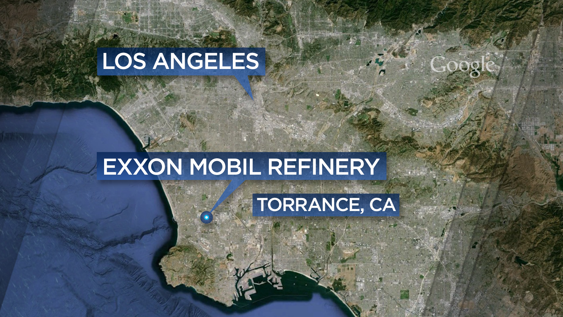 Residents Report Explosion At Exxon Refinery In Southern California - Los angeles gas map