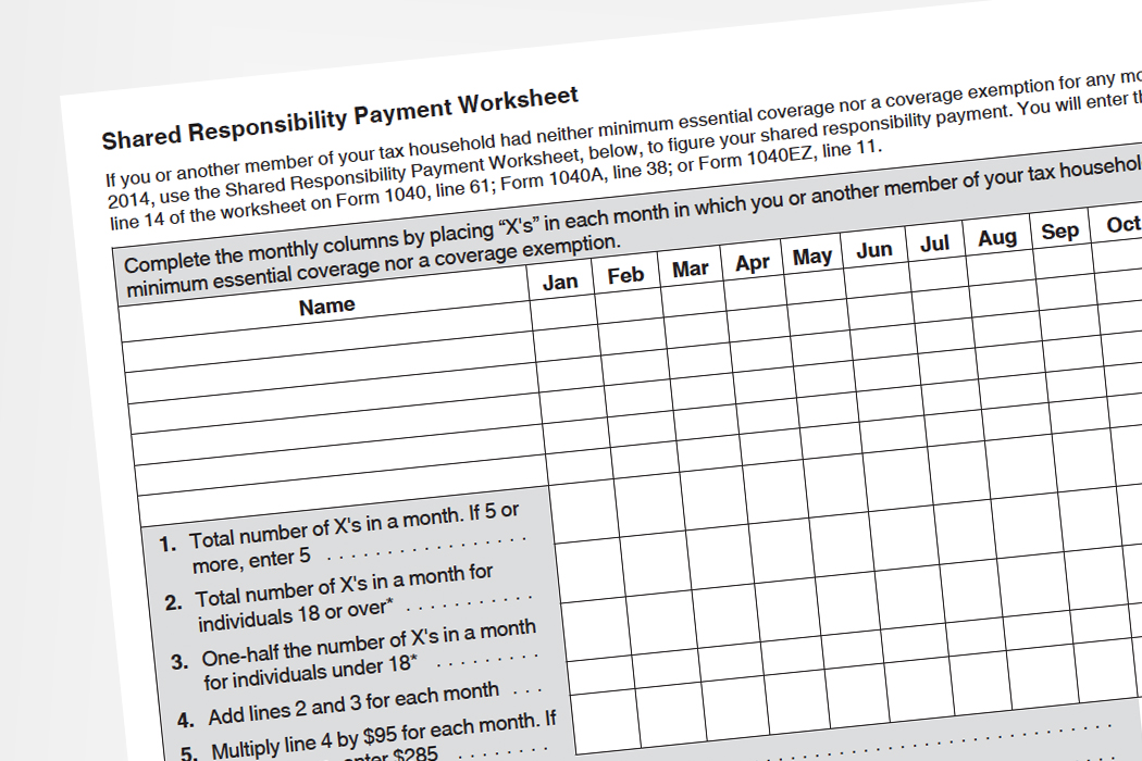 Shared Responsibility Payment Worksheet Sewdarncute. Tax Season Time To Finally Pay That Obamacare Penalty. Worksheet. 1040ez Line 5 Worksheet At Clickcart.co