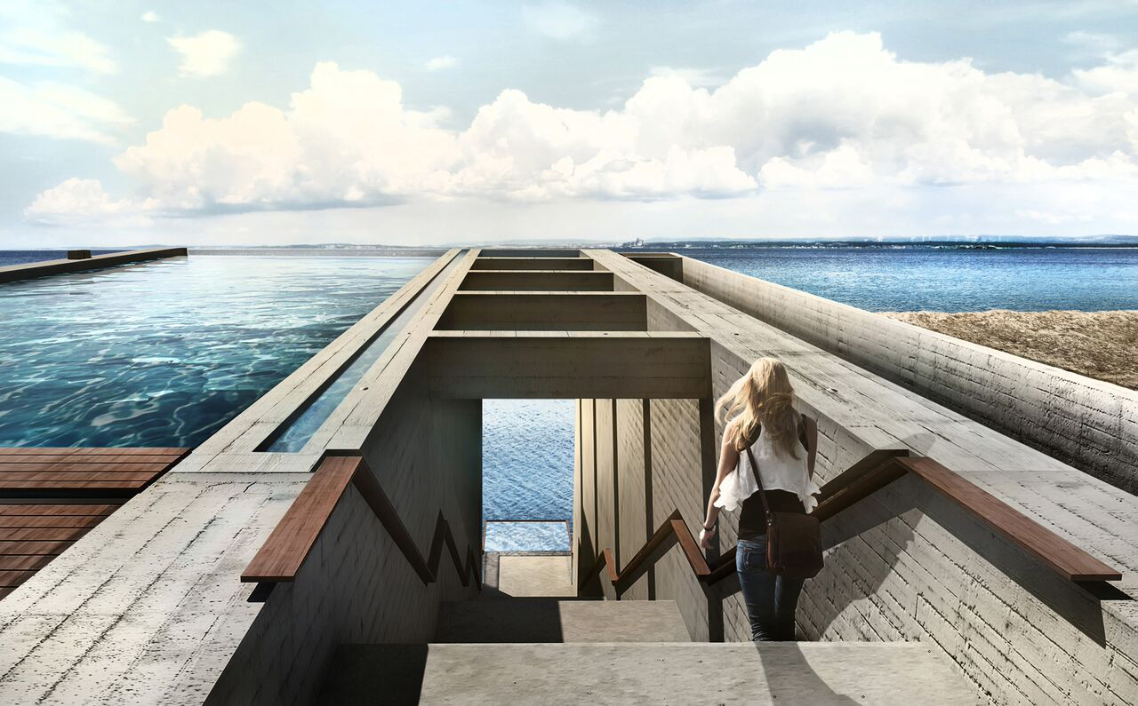Casa Brutale Concept Home Would Be Built Into Cliff