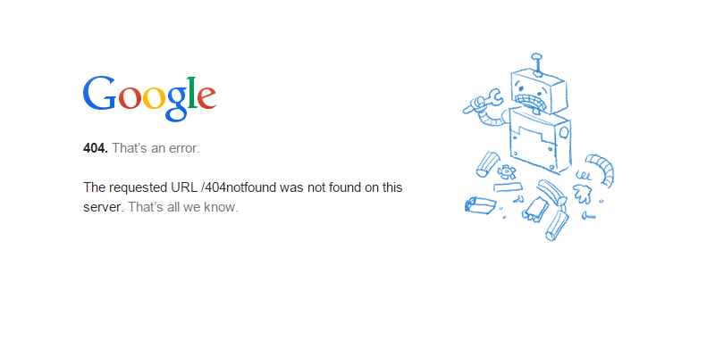 13 Of The Internet's Best 404 Error Pages