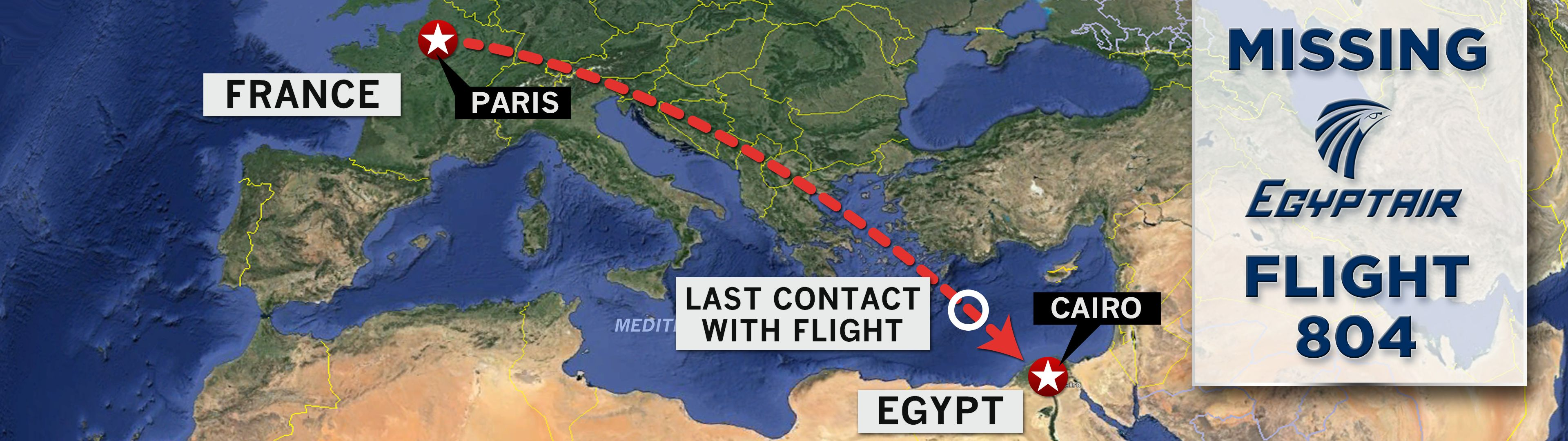 What We Know About Missing EgyptAir Flight MS So Far - Airline flights map of france to us