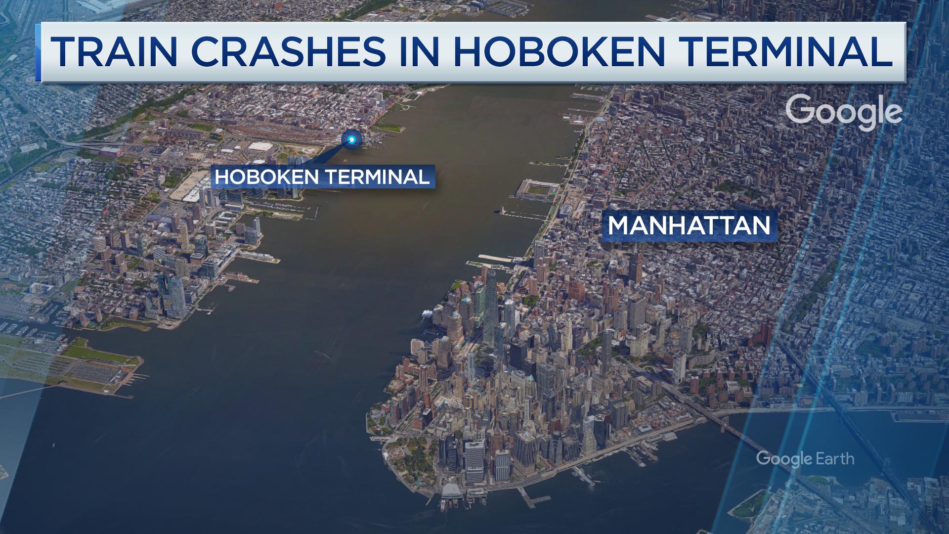 Hoboken Train Crash Kills  Injures  Gov Chris Christie Says - Nyc subway map google earth