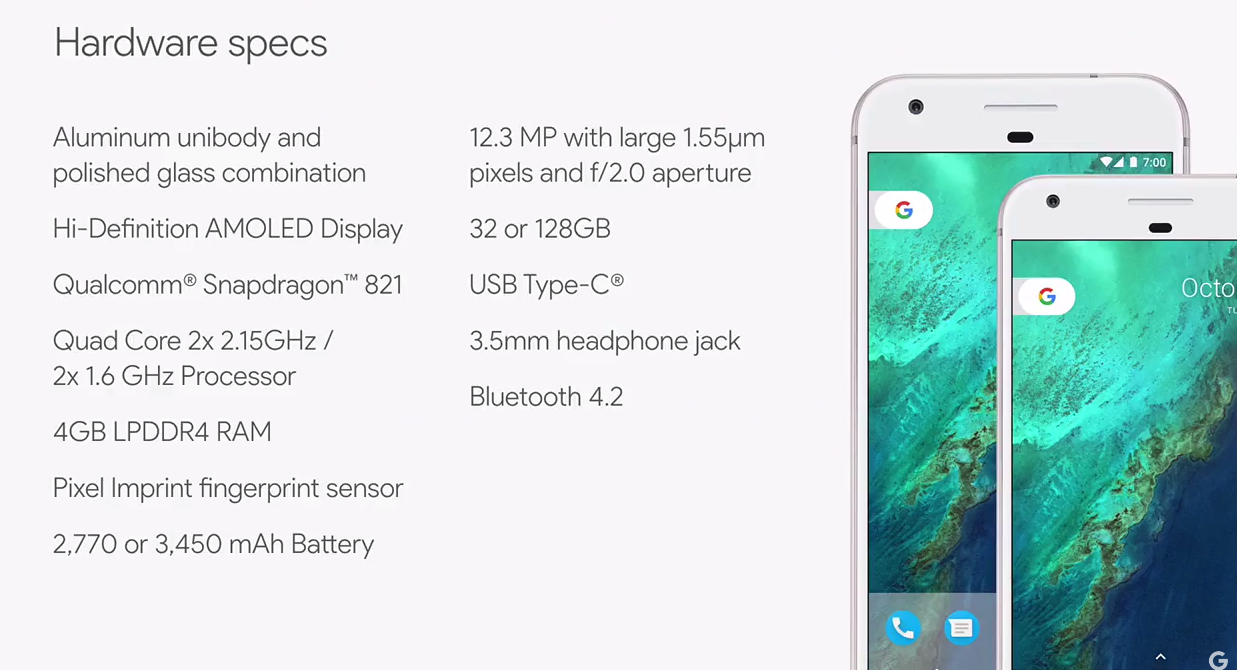 Google Officially Unveils 649 Pixel Phone With Unlimited Storage 129 Home