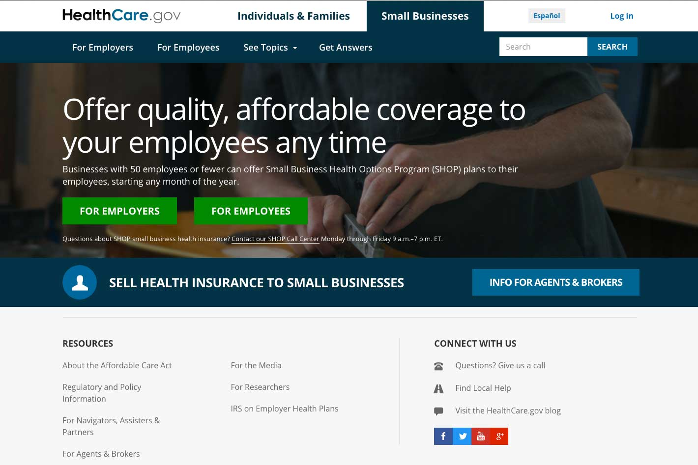 Healthcare Gov Quotes Obamacare Enrollment For Small Business On Healthcare.gov Could End