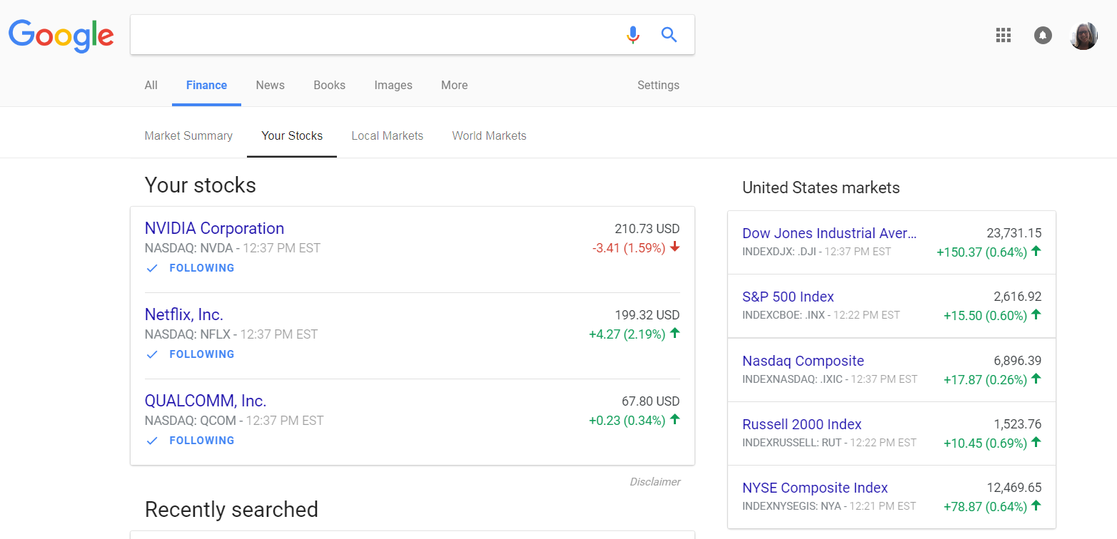 Google finance update helps you follow finances and stocks this is your stocks page where you can follow specific companies think of this as the portfolio section from the old google finance biocorpaavc Gallery