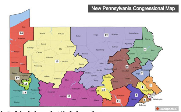 Pennsylvania court releases new voting map