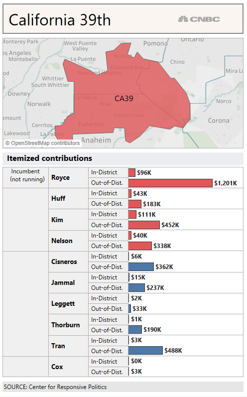 Map Of New York 19th Congressional District.Long Distance Donors Are Already Flooding Tight House Races With Cash